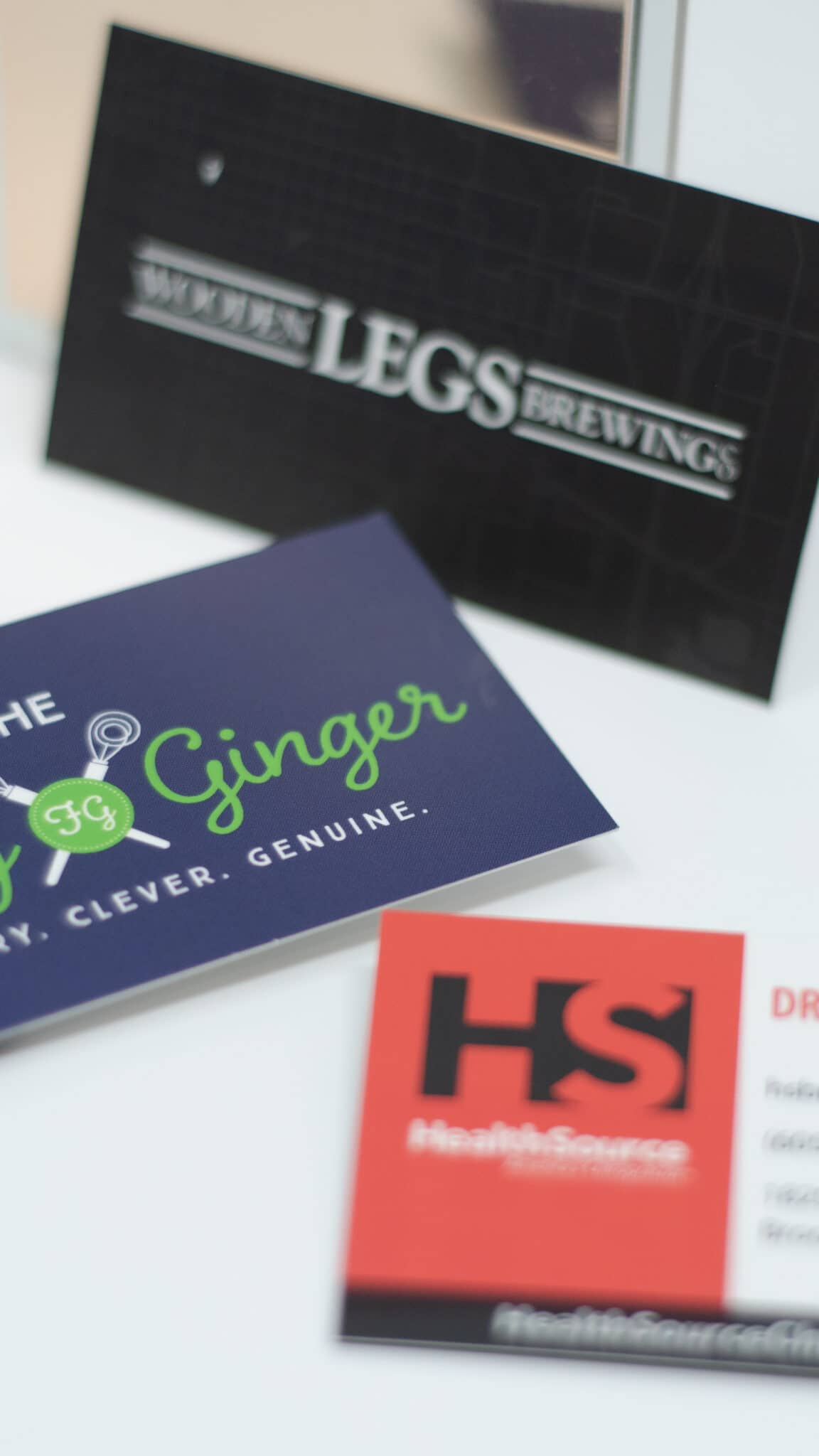 Example business cards