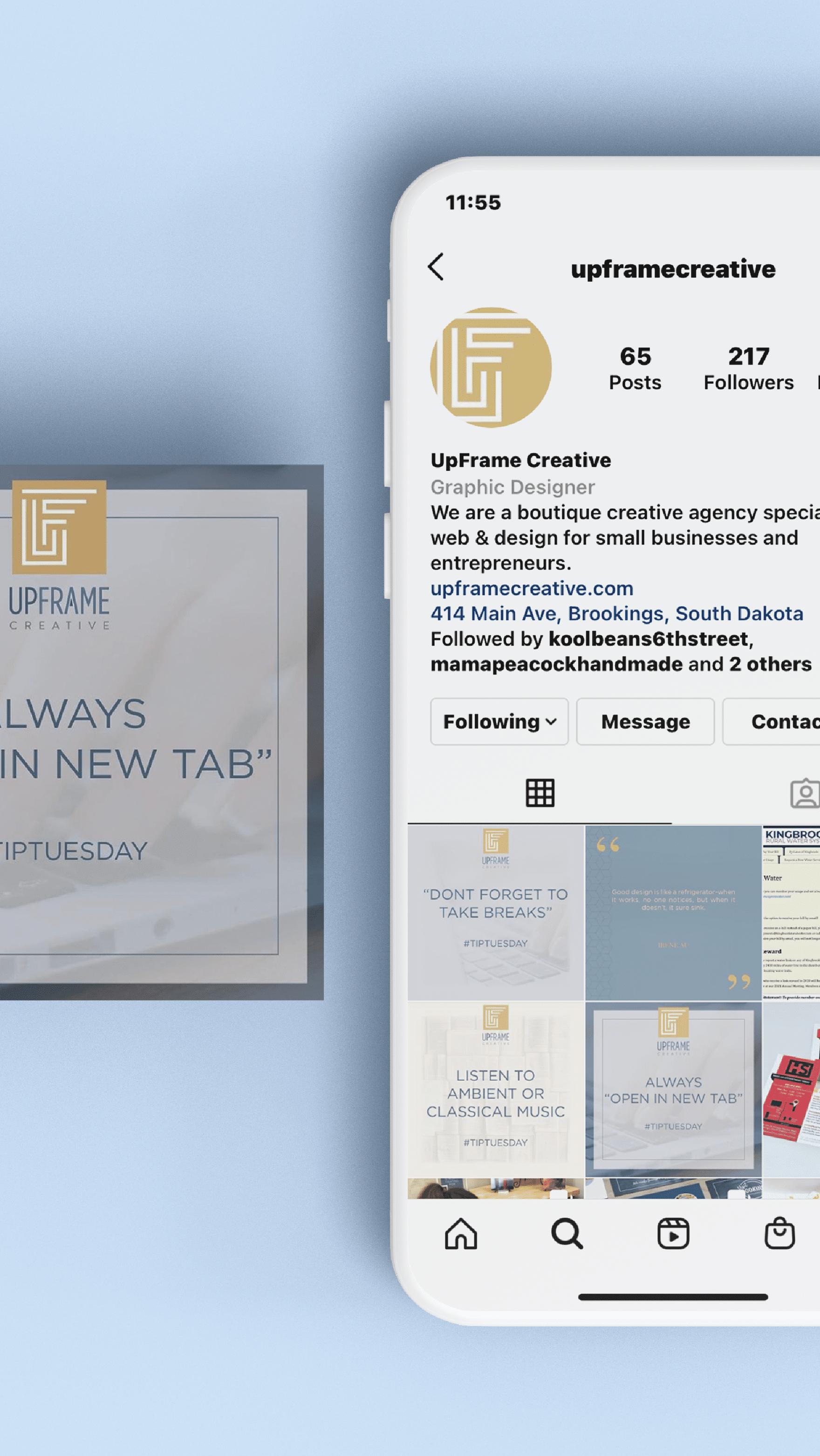 Upframe Instagram